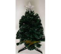 Искусственная новогодняя елка на подставке 60 см зеленая со звездой и гирляндой