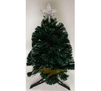 Искусственная новогодняя елка на подставке 90 см зеленая со звездой и гирляндой