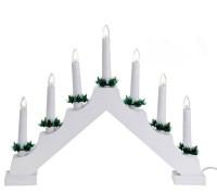 Светильник рождественская горка пластиковая белая
