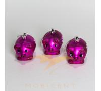 Набор елочных игрушек в виде поросят розовых 3 шт