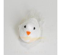 Набор елочных игрушек в виде птичек белоснежного цвета