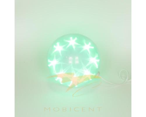 Лампа шар без подставки создает новогодний свет