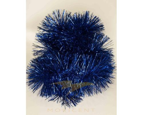 Мишура пышная 240 см синяя