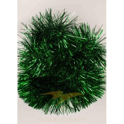 Мишура пышная 240 см зеленая