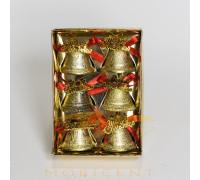 Набор елочных игрушек в виде колокольчиков Merry Christmas 6 шт