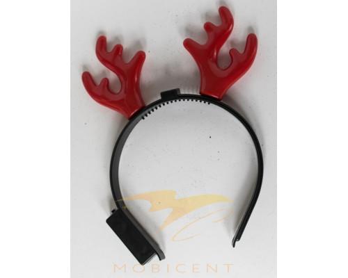 Ободок для волос детский с рогами оленя светящийся
