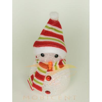 Фигурка снеговика светящаяся, 10 см