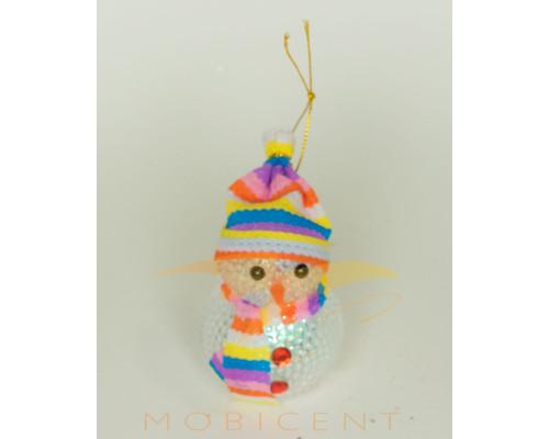 Фигурка снеговика светящаяся, подвесная
