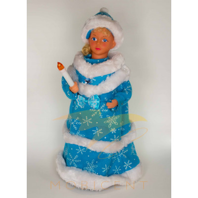 Фигура Снегурочки в шапке высотой 40 см