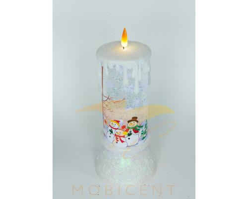 Новогодняя свеча с эффектом горения, высота свечи 25 см.