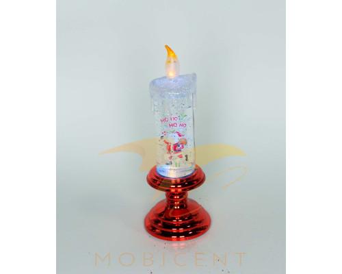 Новогодняя свеча с эффектом горения, высота свечи 16 см.