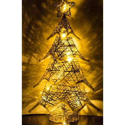 Елка светящаяся золотого цвета высотой 61 см