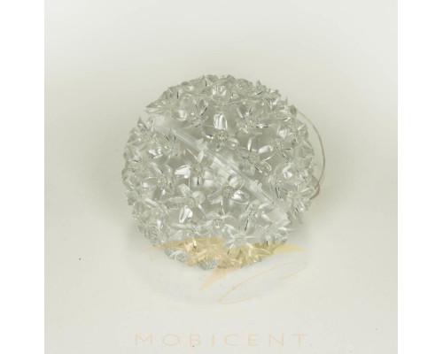 Шар подвесной светящийся с микро цветами диаметр 12,5 см