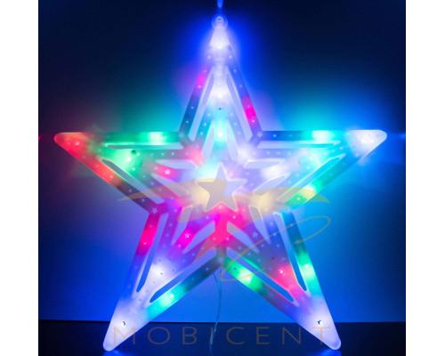 Звезда светящаяся, размер 20 см.