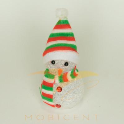 Фигурка снеговика светящаяся, 15 см