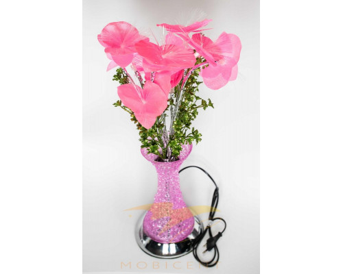 Лампа в виде букета лилий в вазе высота 50 см