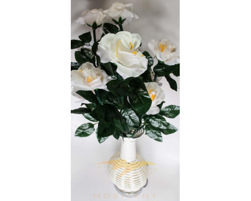 Лампа в виде букета роз в вазе высота 82 см