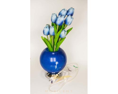 Лампа в виде букета тюльпанов в вазе высота 37 см