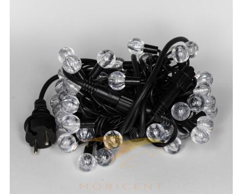 Уличная гирлянда нить 100 ламп шариков (разноцветный свет, премиум качество)