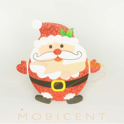 Дед мороз-шар картонный подвесной, размер 20 см.