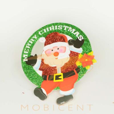 Дед мороз картонный подвесной Merry Christmas, размер 20 см.