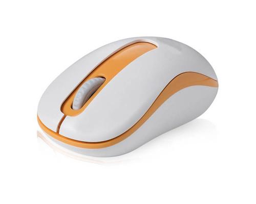 Мышь беспроводная E-02, бело-желтый