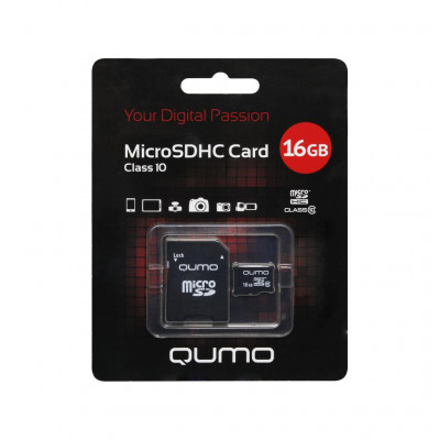 Карта памяти 16Gb microSDHC class10 Qumo ML