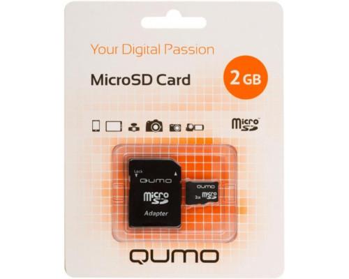 Карта памяти Qumo microSD 2Gb