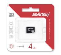 Карта памяти 4Gb microSDHC class4 без адаптера SmartBuy ML