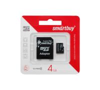 Карта памяти 4Gb microSDHC class4 SmartBuy ML