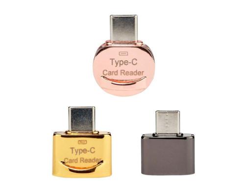 Кардридер Type-c для карт памяти microSD JY-923-a