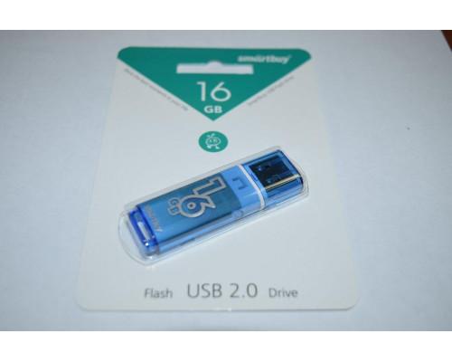 Флешка SmartBuy Glossy USB 2.0 16Gb голубой
