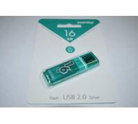 Флешка SmartBuy Glossy USB 2.0 16Gb зеленый
