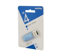 Флешка SmartBuy V-Cut USB 2.0 4Gb синий