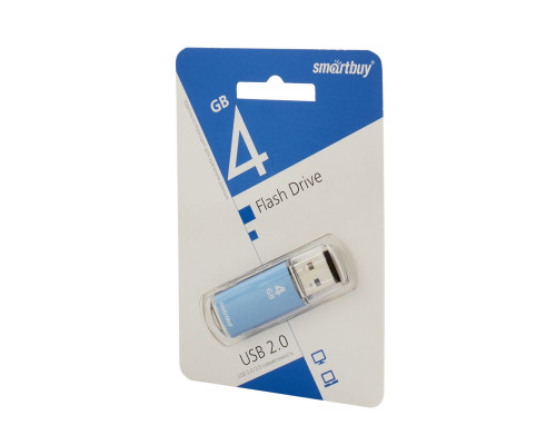 Флешка SmartBuy V-Cut USB 2.0 4Gb синий