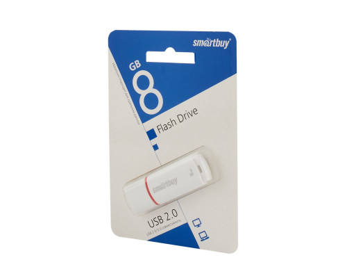 Флешка SmartBuy Crown USB 2.0 8Gb белый