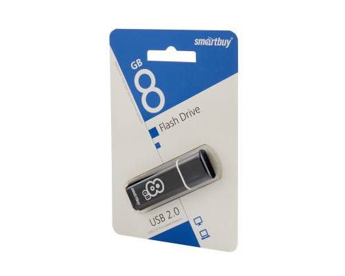 Флешка 8Gb SmartBuy glossy series black