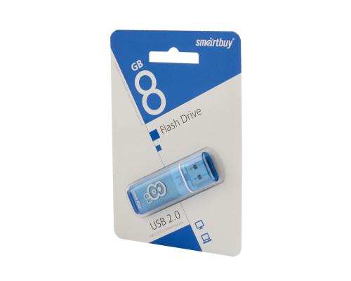 Флешка SmartBuy Glossy USB 2.0 8Gb голубой