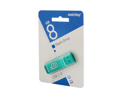 Флешка SmartBuy Glossy USB 2.0 8Gb зеленый