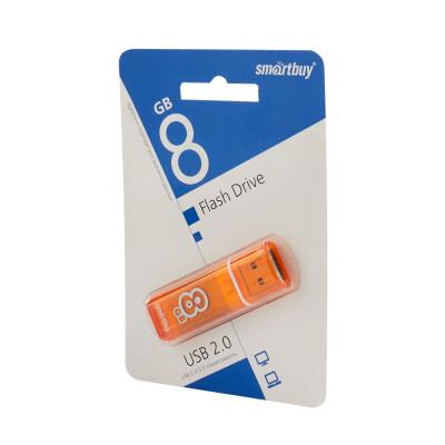 Флешка SmartBuy Glossy USB 2.0 8Gb оранжевый