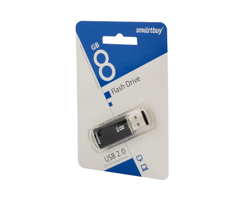 Флешка SmartBuy V-Cut USB 2.0 8Gb черный