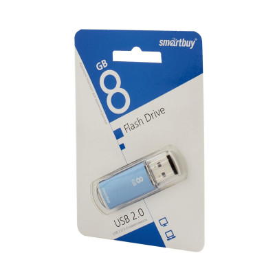 Флешка SmartBuy V-Cut USB 2.0 8Gb синий