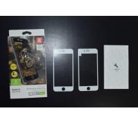 Защитное стекло для iPhone 6S Baseus 3D белое 2 шт.