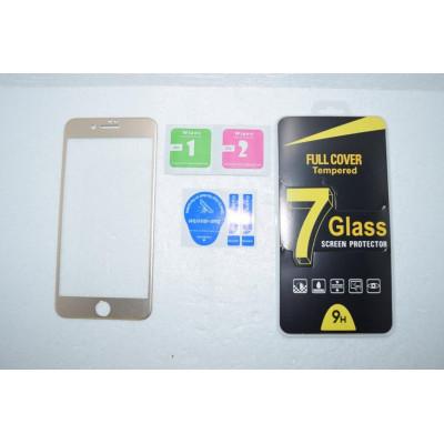Защитное стекло для iPhone 7 Plus 5D с алюминиевой рамкой