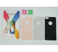 Защитное стекло для iPhone 8 Plus задняя часть белое