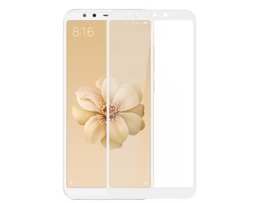 Защитное 5D стекло для Xiaomi Mi A2 белое