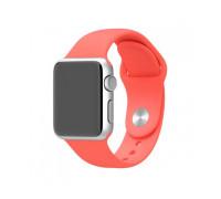 Ремешок для Apple Watch 38 - 40 мм силиконовый  розовый