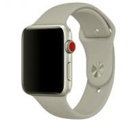 Ремешок для Apple Watch 42-44 мм силиконовый серый