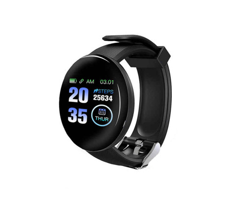 Часы Smart Watch D18, черный