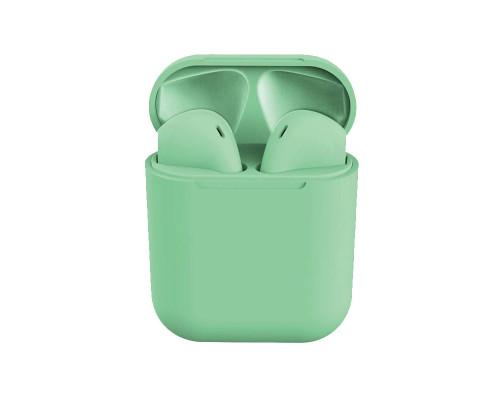 Беспроводные наушники Inpods 12 Macaron Bluetooth v5.0, зеленый